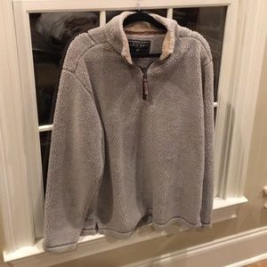 True Grit gray and beige pull over